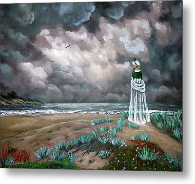 A Stroll Upon The Dunes Metal Print