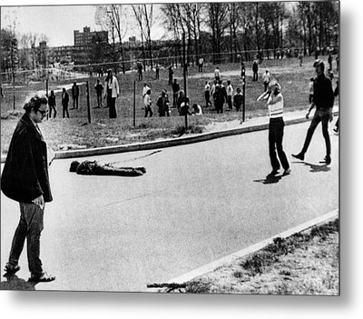 A Student Lies Dead At Kent State Metal Print by Everett
