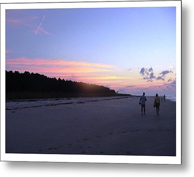 Metal Print featuring the photograph A Sunrise Stroll On The Beach by Frank Wickham