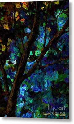 Metal Print featuring the painting A Touch Of Blue by Steven Lebron Langston
