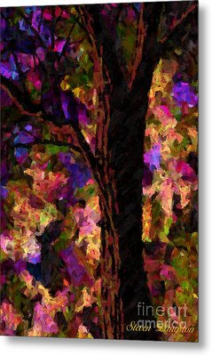 Metal Print featuring the painting A Touch Of Lavender by Steven Lebron Langston