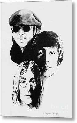 A Tribute To Lennon Metal Print by Suzanne Schaefer