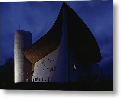 A View Of The Exterior Of The Chapel Metal Print by James L. Stanfield