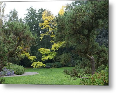 Metal Print featuring the photograph A Walk In The Park by Jerry Cahill