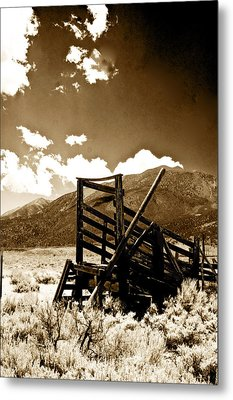 Abandoned Cattle Shoot Metal Print