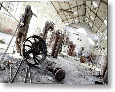 Abandoned Factory Metal Print by Carlos Caetano