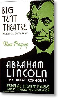 Abe Lincoln Wpa Poster Metal Print by Paul Van Scott