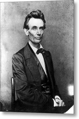 Abraham Lincoln 1860portrait By B Metal Print by Everett