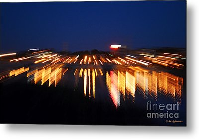 Abstract - City Lights Metal Print by Sue Stefanowicz
