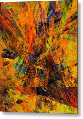 Abstract 100611 Metal Print by David Lane