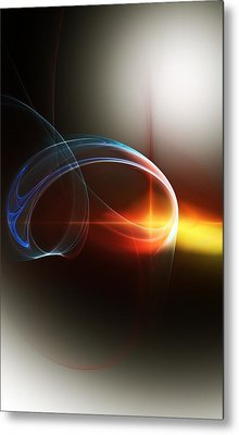 Abstract 101311c Metal Print by David Lane