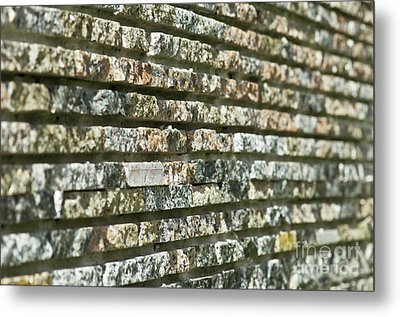 Abstract Background Of Decorative Stone Metal Print by Valerii Kotulskyi