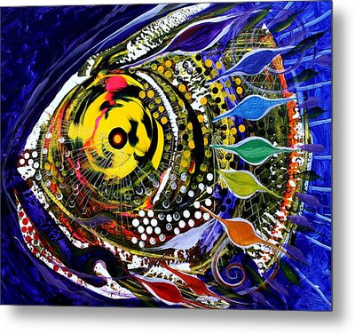 Abstract Busy Bee Fish Metal Print by J Vincent Scarpace