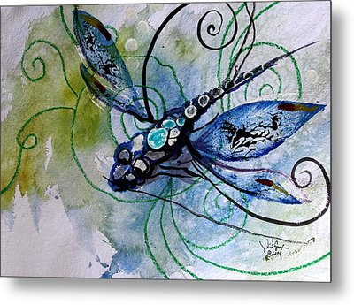 Abstract Dragonfly 10 Metal Print by J Vincent Scarpace