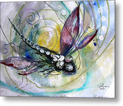 Abstract Dragonfly 11 Metal Print by J Vincent Scarpace