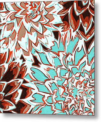 Abstract Flower 17 Metal Print by Sumit Mehndiratta