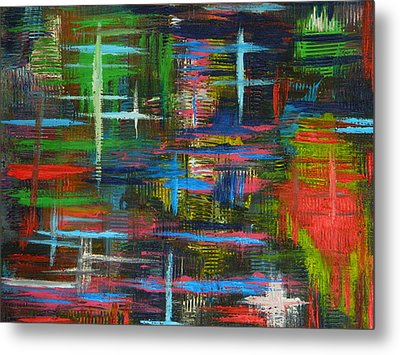 Metal Print featuring the painting Abstract Lines by Everette McMahan jr