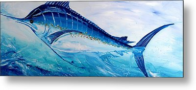 Abstract Marlin Metal Print by J Vincent Scarpace