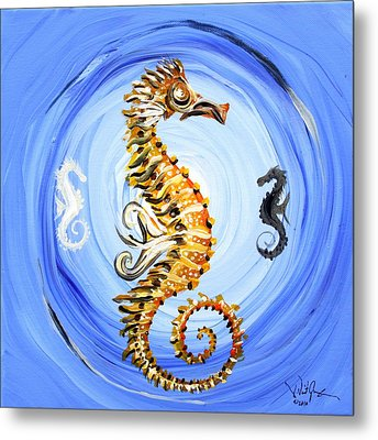 Abstract Sea Horse Metal Print by J Vincent Scarpace