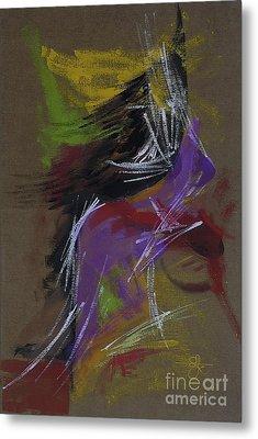 Abstract Woman Metal Print by Vilas Malankar