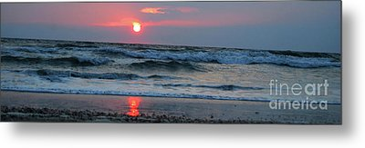 Metal Print featuring the photograph Across The Sea by Linda Mesibov