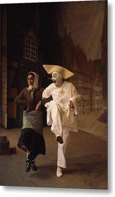 Actors Perform Pantomimes At Tivoli Metal Print by Sisse Brimberg