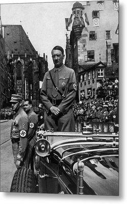 Adolf Hitler At Parteitag Der Freiheit Metal Print by Everett