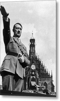 Adolf Hitler At Reichsparteitag, 1934 Metal Print by Everett