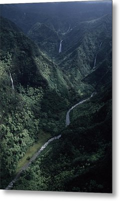 Aerial Of Olekole Canyon Metal Print by Ira Block