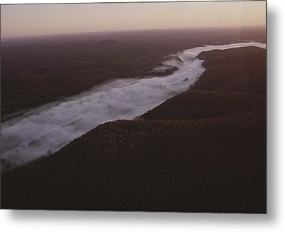 Aerial Of The Buffalo River Metal Print by Randy Olson