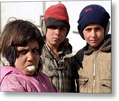 Afghan Children Metal Print