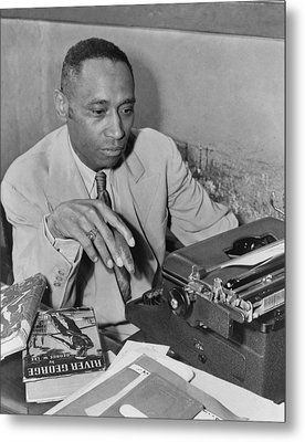African American Author George Metal Print by Everett