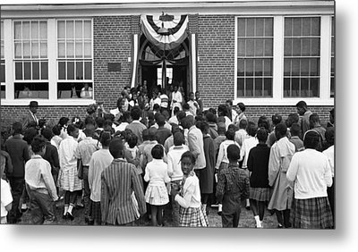 African American Children Entering Metal Print by Everett
