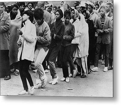 African American Women Dance At A Civil Metal Print by Everett