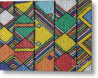 African Beadwork 1 Metal Print by Neil Overy