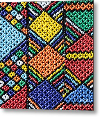 African Beadwork 2 Metal Print by Neil Overy