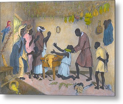 Afro-caribbeans Engaging Metal Print by Everett