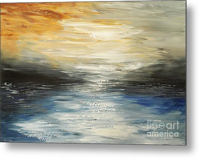 Metal Print featuring the painting After The Deluge by Tatiana Iliina
