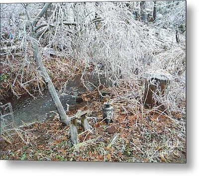 After The Ice Storm In Maine Metal Print by Jeannie Atwater Jordan Allen