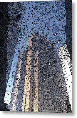 Afternoon Showers Metal Print