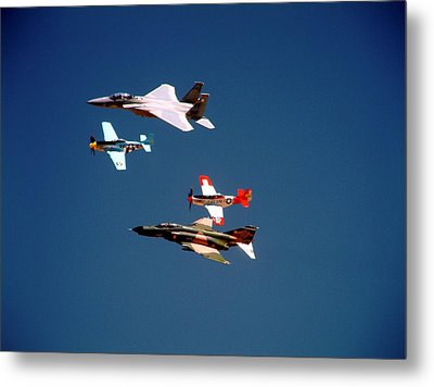 Air Force Heritage Flight Metal Print by Michael Courtney