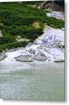 Alaskan Ice Melt Metal Print by Mindy Newman