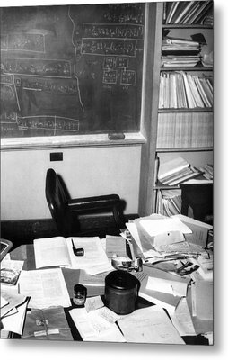 Albert Einsteins Study At The Institute Metal Print by Everett