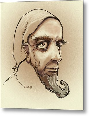 Alchemist Sketch Metal Print by Dorianne Dutrieux