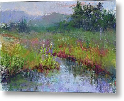 Alder Meadow Morning Metal Print