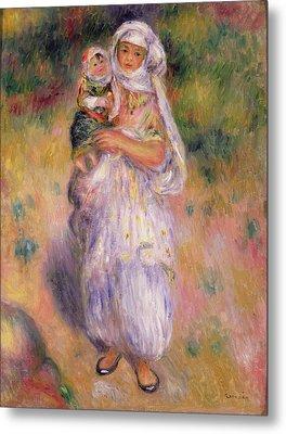 Algerian Woman And Child Metal Print by Pierre Auguste Renoir