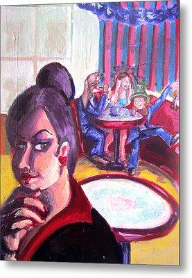 Alice Trippin' In Wonderland Metal Print by Hannah Chusid