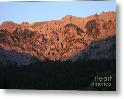 Metal Print featuring the photograph Alpenglow by Marta Alfred