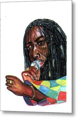 Alpha Blondy Metal Print by Emmanuel Baliyanga