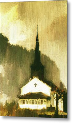 Alpine Church Metal Print by Andrea Barbieri